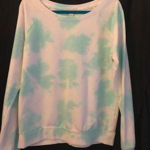 Forever 21 Round Neck Tie-dye Sweatshirt